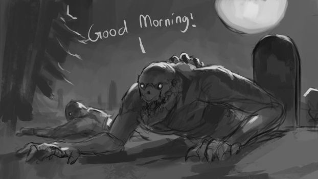 Sketch #192 Good morning! by Olieart