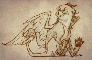 Gryphon sketch by TheTundraGhost