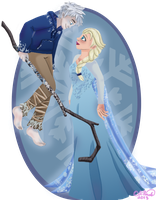 Jack And Elsa by Aura-Cat