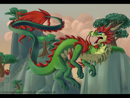 Jade Cloud Serpent by Intellectual-Panda