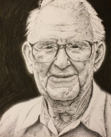 Old Man Stipple (Pointalism) by Nayolfa
