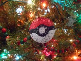 Pokeball Ornament by KeyboardingChihuahua