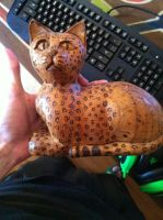 Wood Burned Cat by Wytchdocta