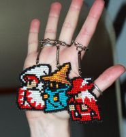 Final Fantasy 1 Mages Keychain by StitchPlease