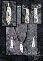 Amethyst and Silver Set 1 by LRJProductions
