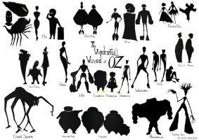 The Wizard of Oz character designs by CostumedesignerEefke