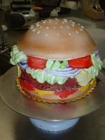 Burger Cake by Kahlan4