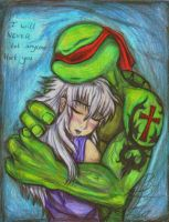 Raph and a girl by HugAttack4JesusXD