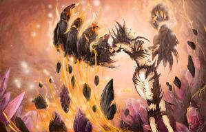 Volcanic Vi League of Legends by XenoBunny