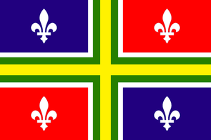 Flag of the Neo-Francian State of Quebec by kyuzoaoi