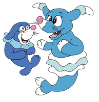 Brionne and Popplio by Critterz11