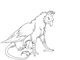 gryphon lineart by ArcticFox767
