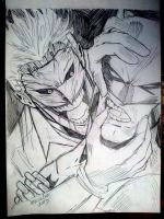 Joker/Batman Sketch by jey2dworld