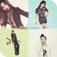2ne1 scream by redsquizofrenia