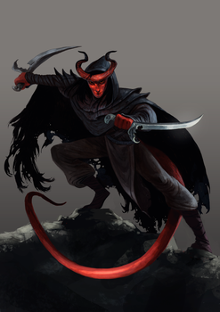 DnD Tiefling by Bard-the-zombie