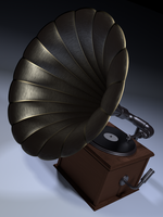 3D Model: Gramophone by ark4n