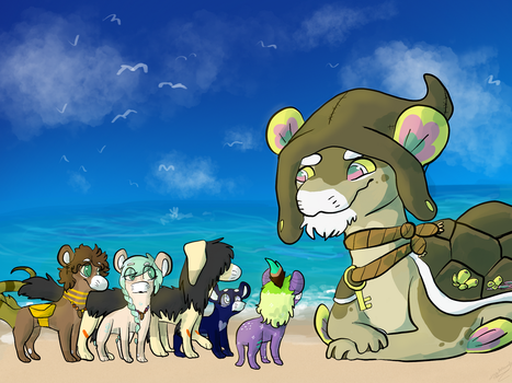 Summer event part 1-4 by WingedSheWolf