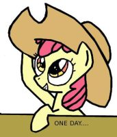 Applebloom: I will be a big pony one day.... by Closer-To-The-Sun