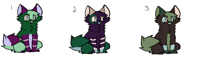 Cheap Cat palette adopts by WolveFalcoAdoptables