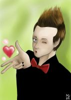 Green Day's Tre Cool by Marshu