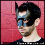 Dark Hero leather mask by Alyssa-Ravenwood