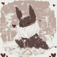 So Much Snow! ~Eevee~ by NAD-LifeOfficial