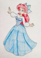 Ariel in the Blue Dress by Punisher2006