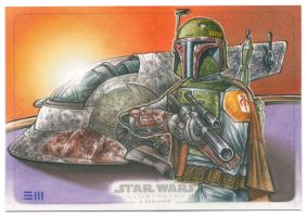 Boba Fett and Slave One by Erik-Maell