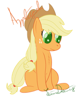 Sitting Applejack by LimeDreaming
