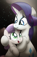 Sister Hugs by drawponies