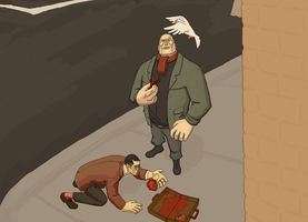 Heavy/Medic Meet before TF2 by cupcakeraynebow