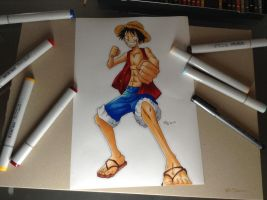 Monkey D. Luffy by Laaleee