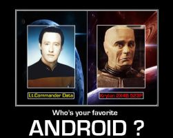 Who's your favorite Android ? [ST:TNG / Red Dwarf] by DoctorWhoOne