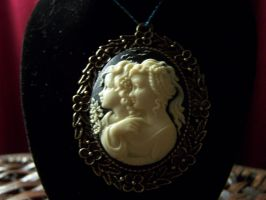 Two Sisters Cameo Pendant by whimsyandmalice