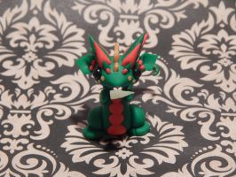 Green and Red Christmas Dragon by XDtheBEASTXD