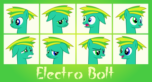 MLP OC Faces - Electro Bolt by outlaw4rc
