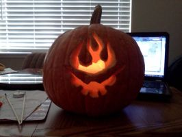 Gurren Lagann Pumpkin 2012! by kenchinblade