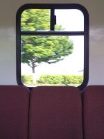 Portland Train Window by Pakaku