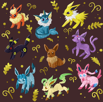 Eevelutions pattern by Agui-chan