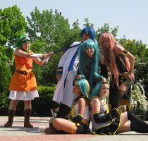 Vocaloid cosplay :3 by AsleepPanther