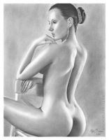 Pencil Drawing Classic Woman by OlgaBell