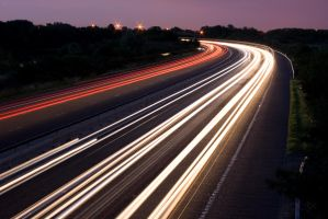 Motorway at Night - 4 by fruitycube