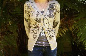Handmade Middle Earth Cardigan 2 by flaviarose