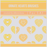 {SAI resources} Ornate Hearts Brushes by ASlovesLisa