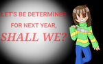 Chara wishes you a happy new year by FlickeringFilms