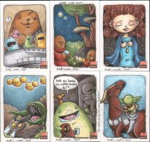 star wars galaxy5 cards2 by katiecandraw