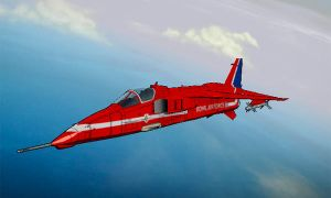 Jaguar M Red Arrows Vector Thrust skin by ACZCipher