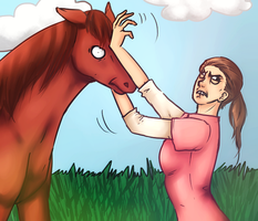 How Sims Pet Horses by The-Typical-Toy-Box