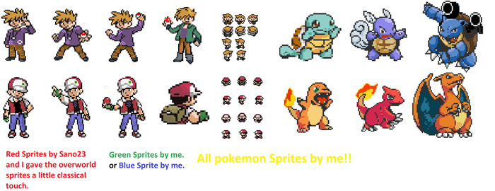 Red and Green Recolor Sprites by MohammadAtaya