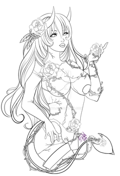 technicolored bliss lineart by AyaReiko